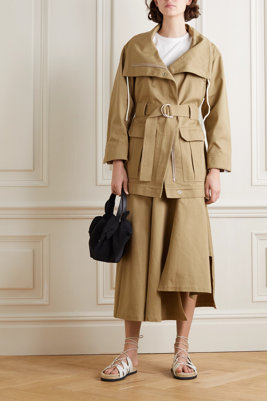 3.1 PHILLIP LIM + Space for Giants belted organic cotton-twill jacket