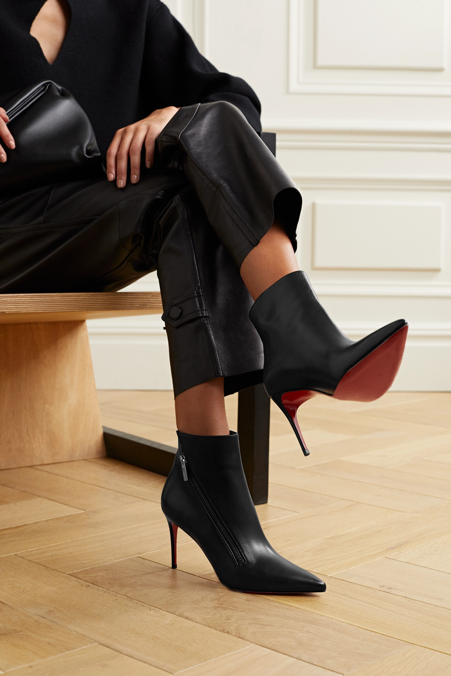 CHRISTIAN LOUBOUTIN Birgikate 85 leather ankle boots