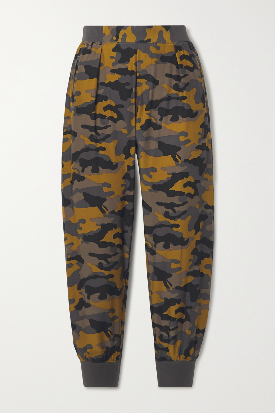ATM ANTHONY THOMAS MELILLO Camouflage-print silk track pants