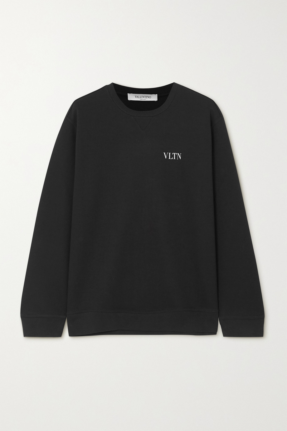 VALENTINO Printed cotton-blend jersey sweatshirt