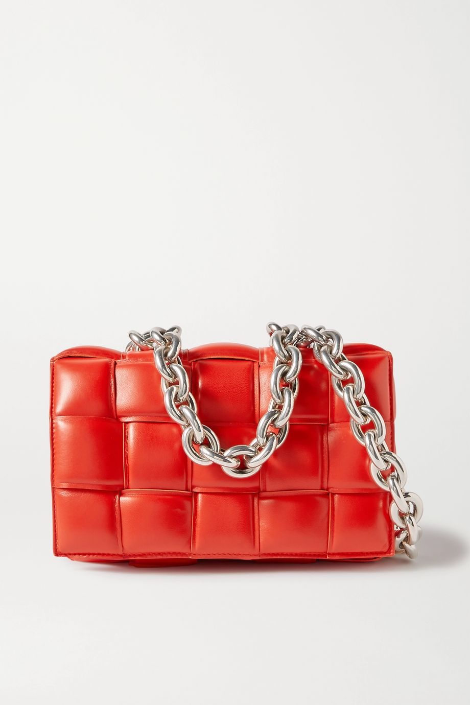 BOTTEGA VENETA Cassette chain-embellished padded intrecciato leather shoulder bag