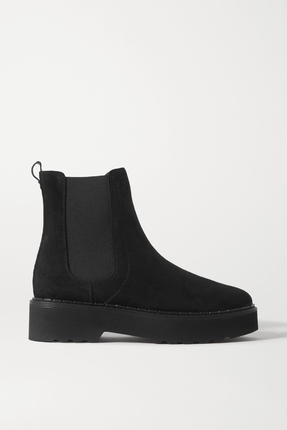 Tod's Suede exaggerated-sole Chelsea boots
