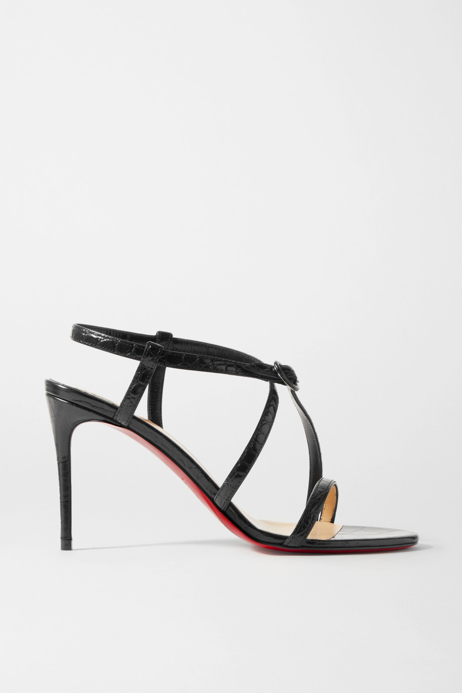 CHRISTIAN LOUBOUTIN Selima 85 croc-effect leather sandals