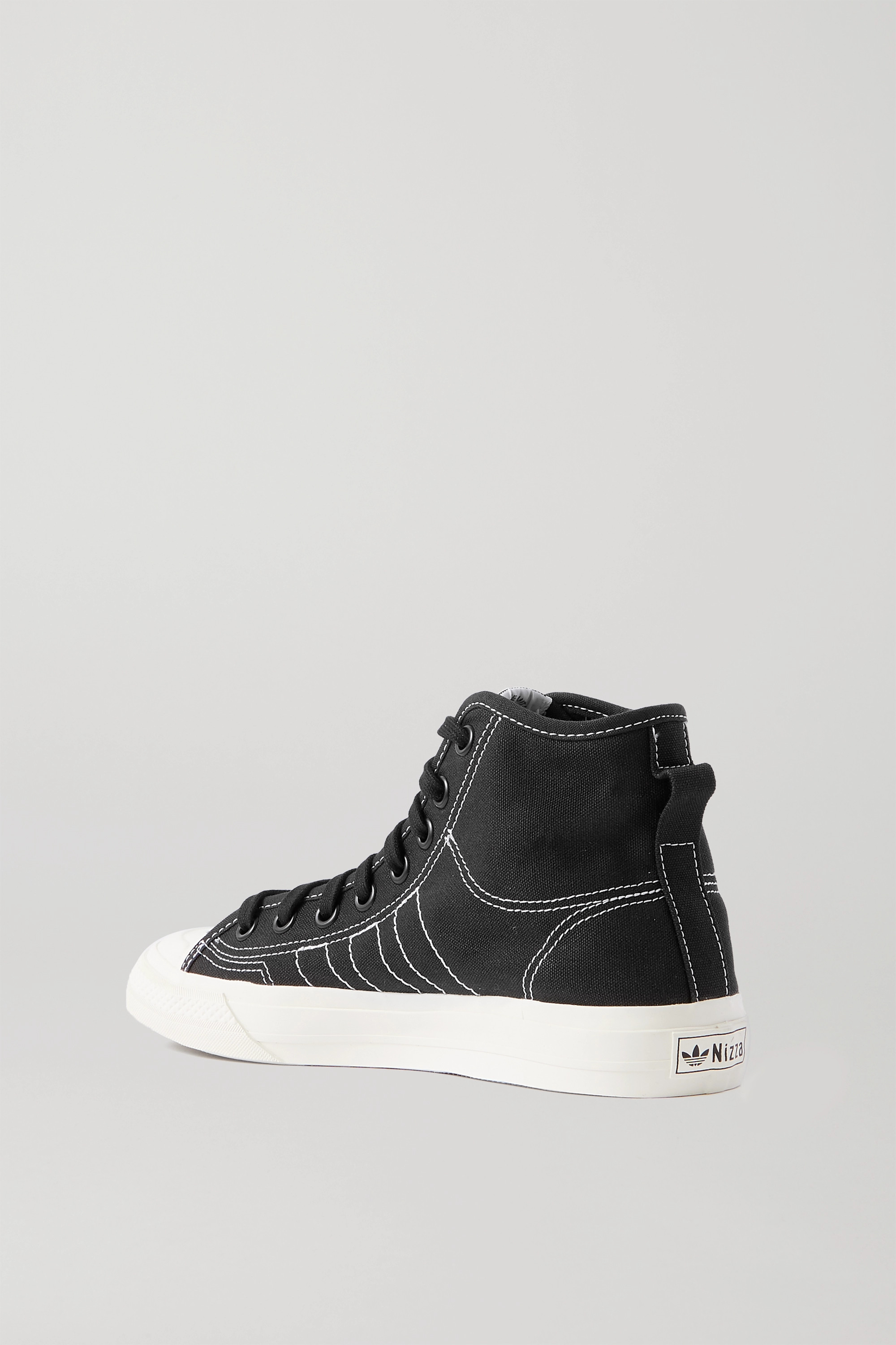 ADIDAS ORIGINALS Nizza topstitched canvas high-top sneakers