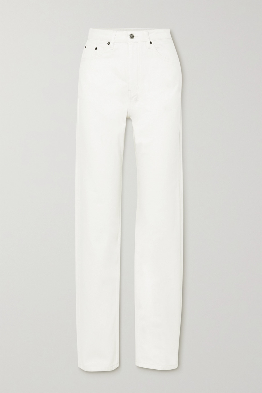 Ksubi Playback White Rose high-rise straight-leg jeans