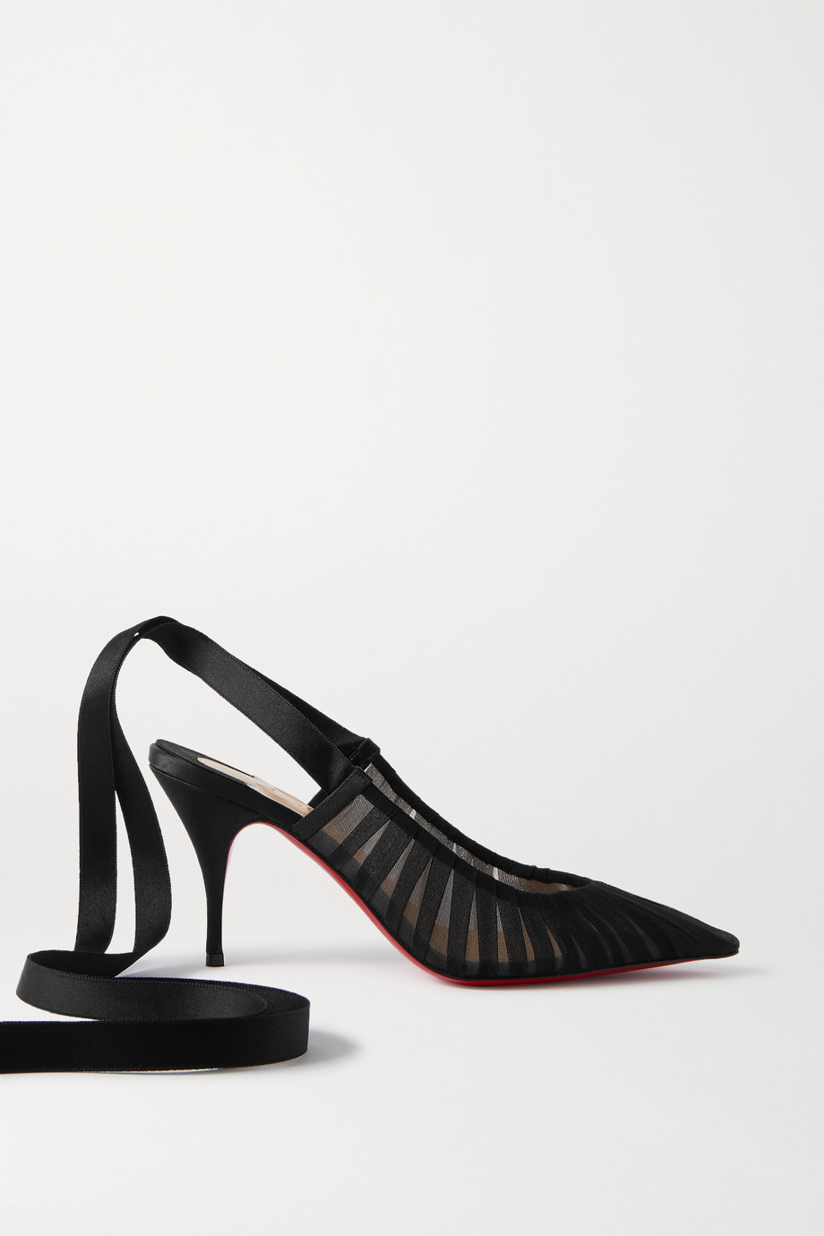 CHRISTIAN LOUBOUTIN Goya Ruban 80 chiffon and satin pumps