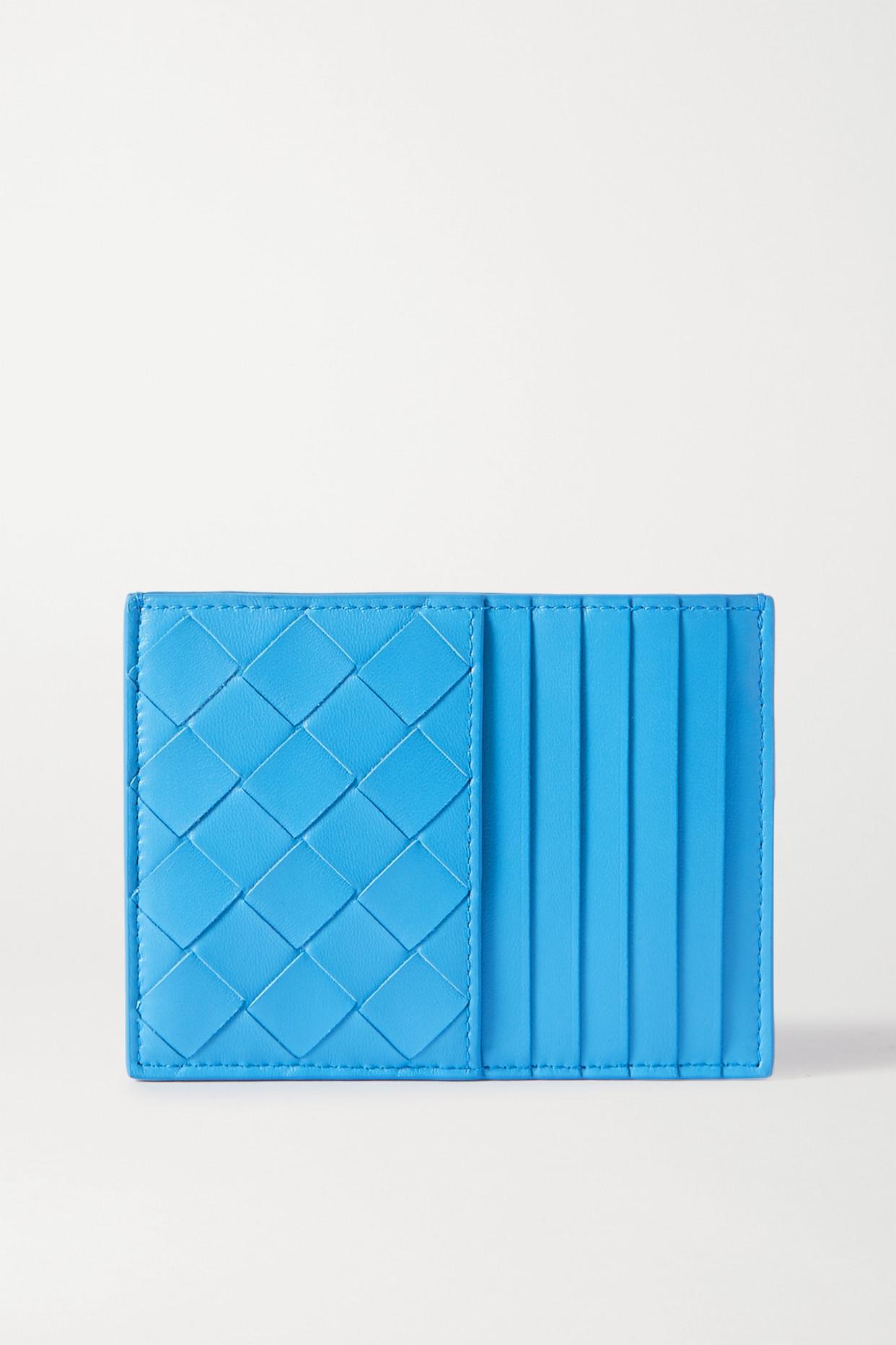 BOTTEGA VENETA - Intrecciato 皮革卡夹 - 蓝色 - one size