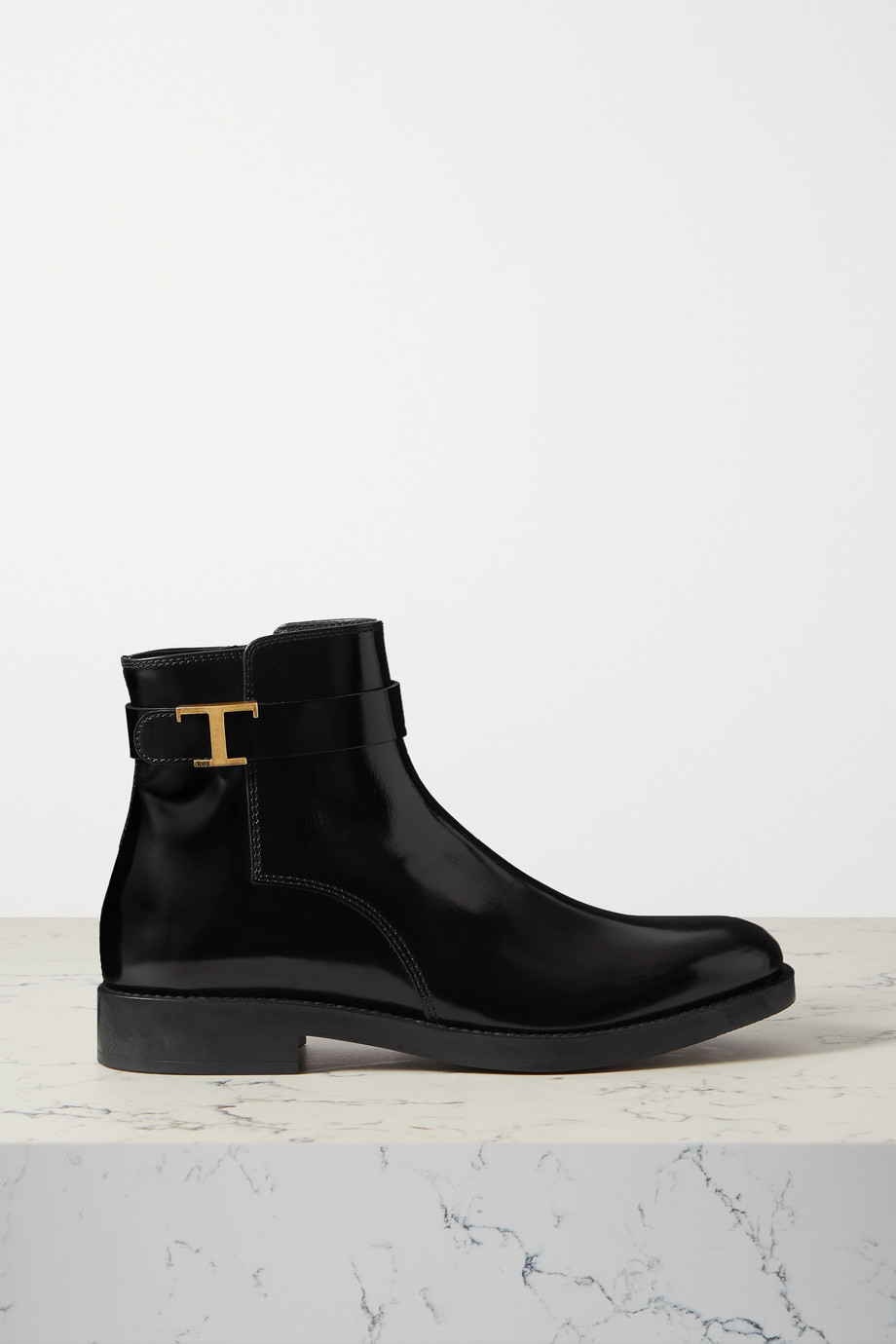 Tod's Buckled patent leather ankle boots