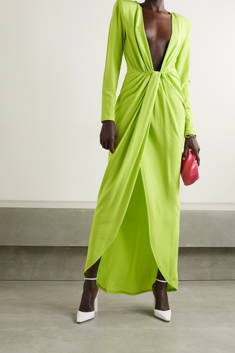 GAUGE81 Krasnodar draped stretch-jersey maxi dress