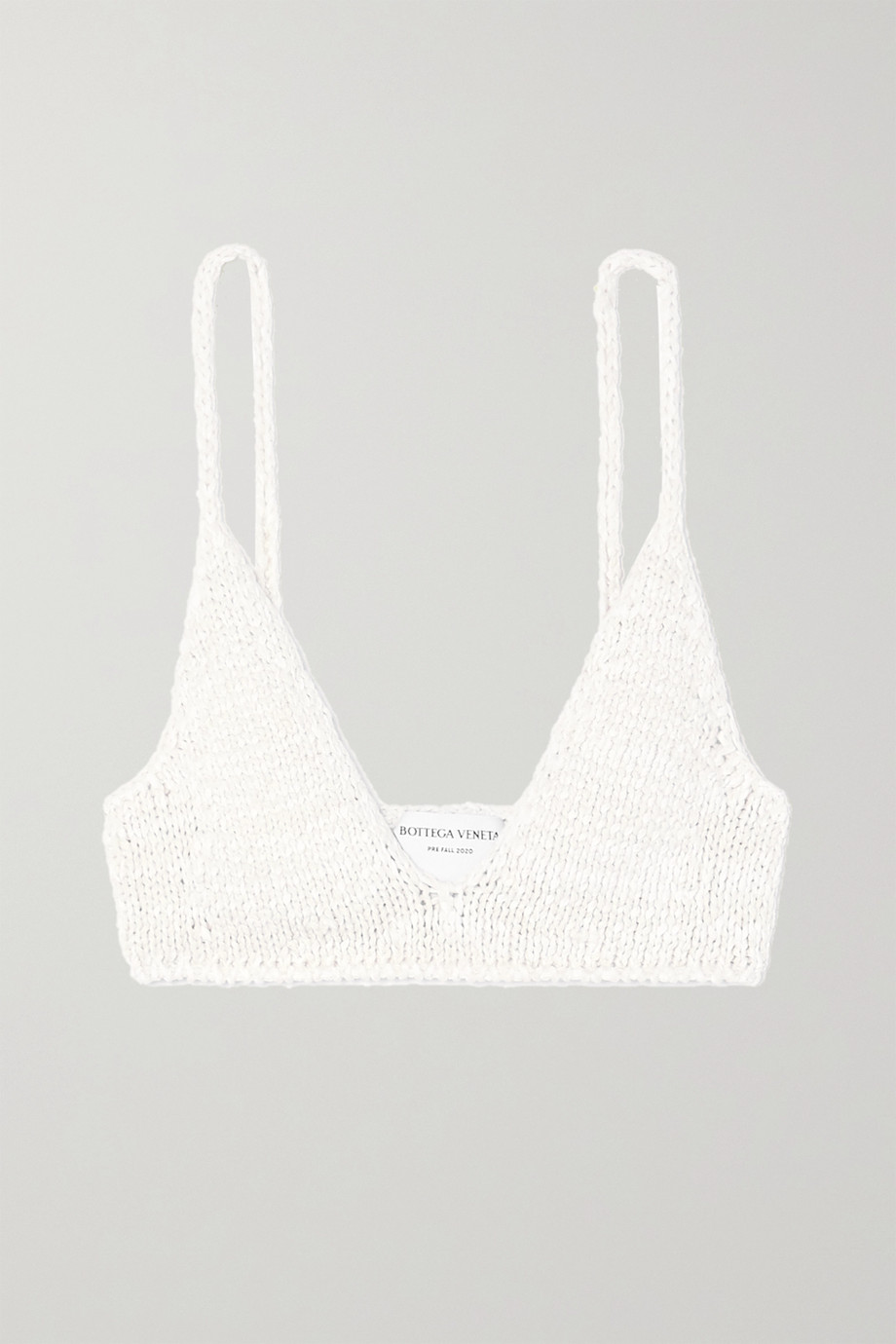 BOTTEGA VENETA Cotton-blend soft-cup bra top