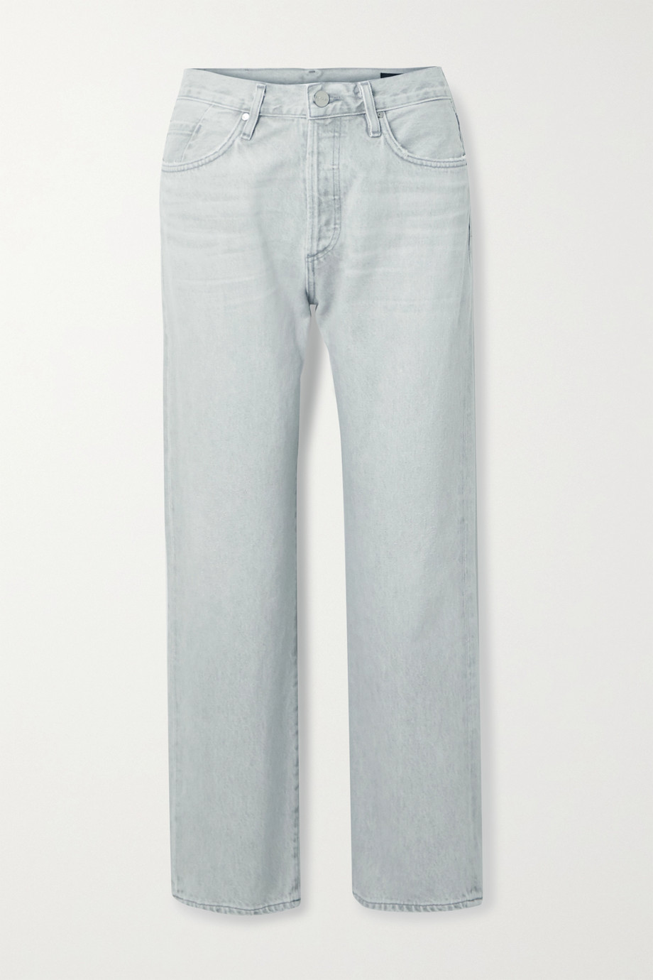 GOLDSIGN Organic high-rise straight-leg jeans