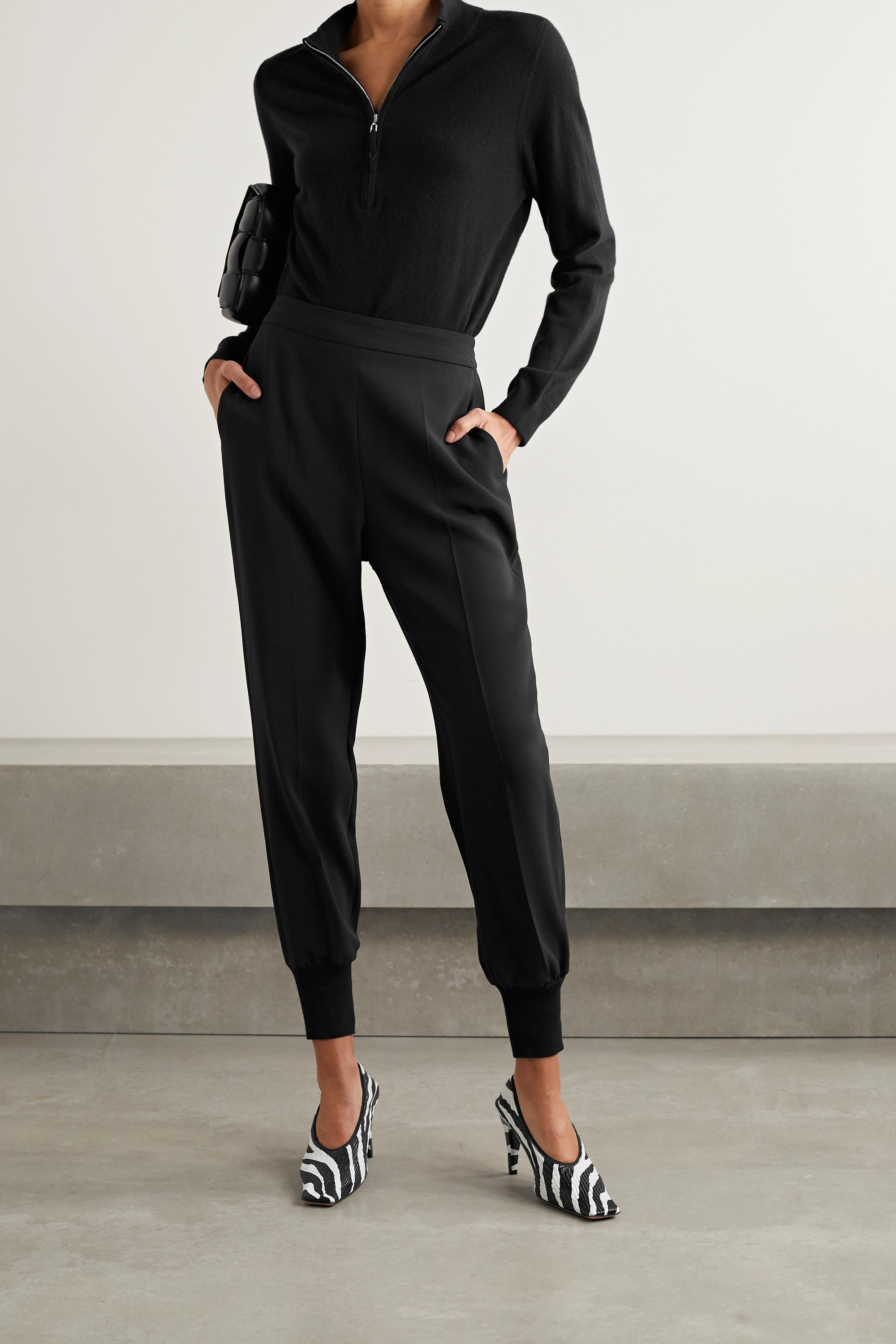 STELLA MCCARTNEY + NET SUSTAIN Julia stretch-cady track pants
