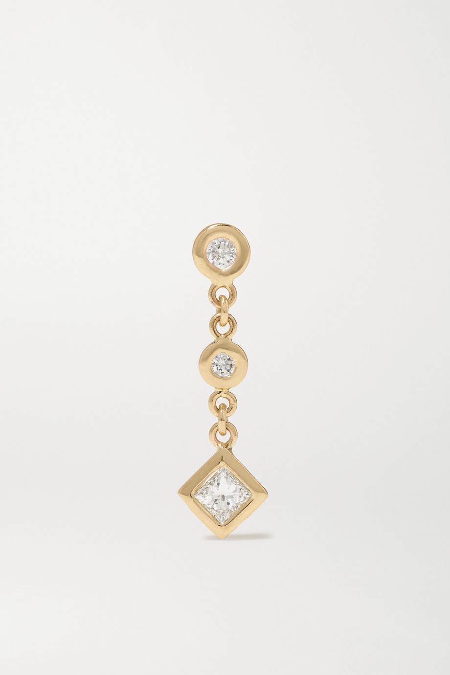 JACQUIE AICHE 14-karat gold diamond earring
