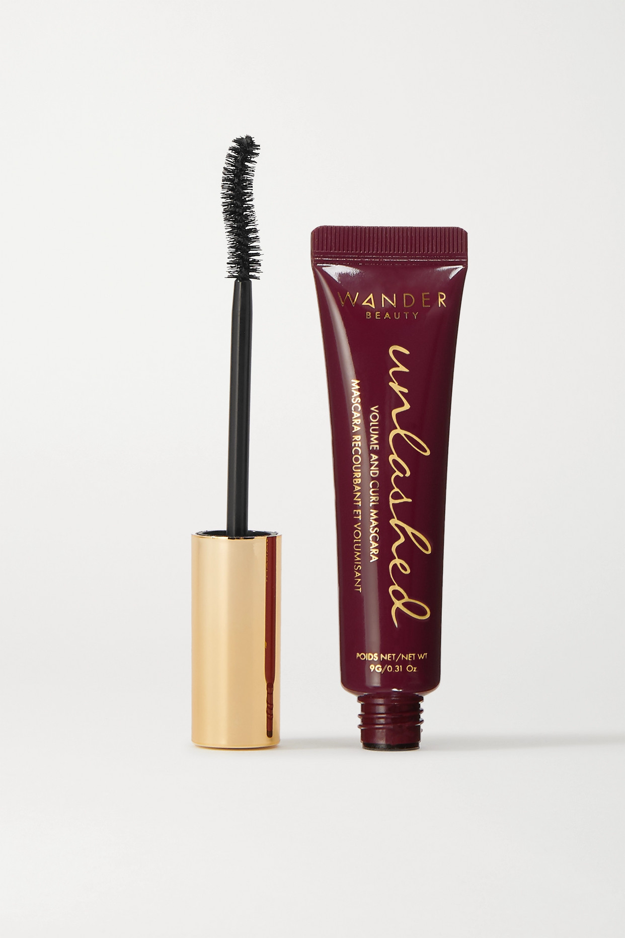 WANDER BEAUTY - Unlashed Volume And Curl Mascara - Tarmac - Black - one size