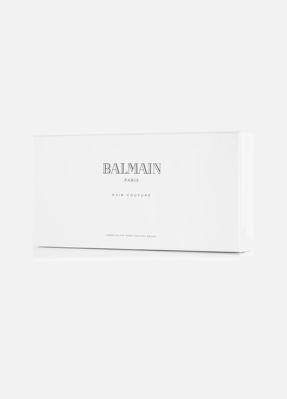 BALMAIN PARIS HAIR COUTURE Large Silver-Tone Spa Brush Set
