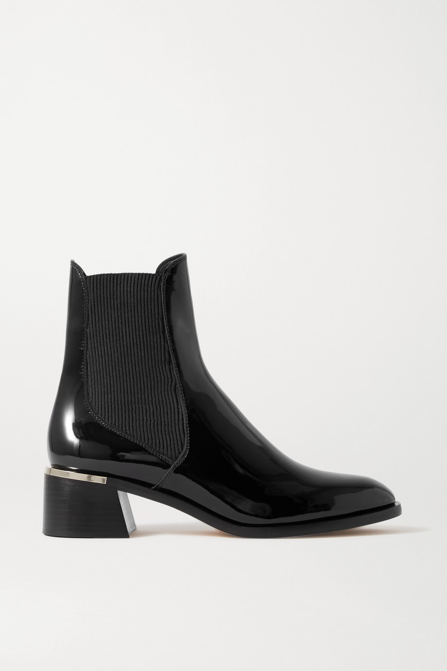 JIMMY CHOO Rourke 45 embellished patent-leather Chelsea boots