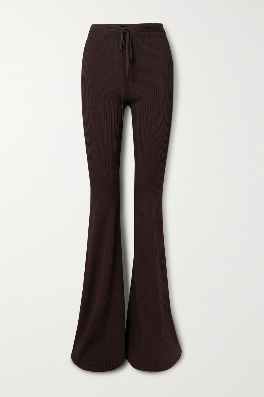 Peter Do Ribbed-knit flared pants