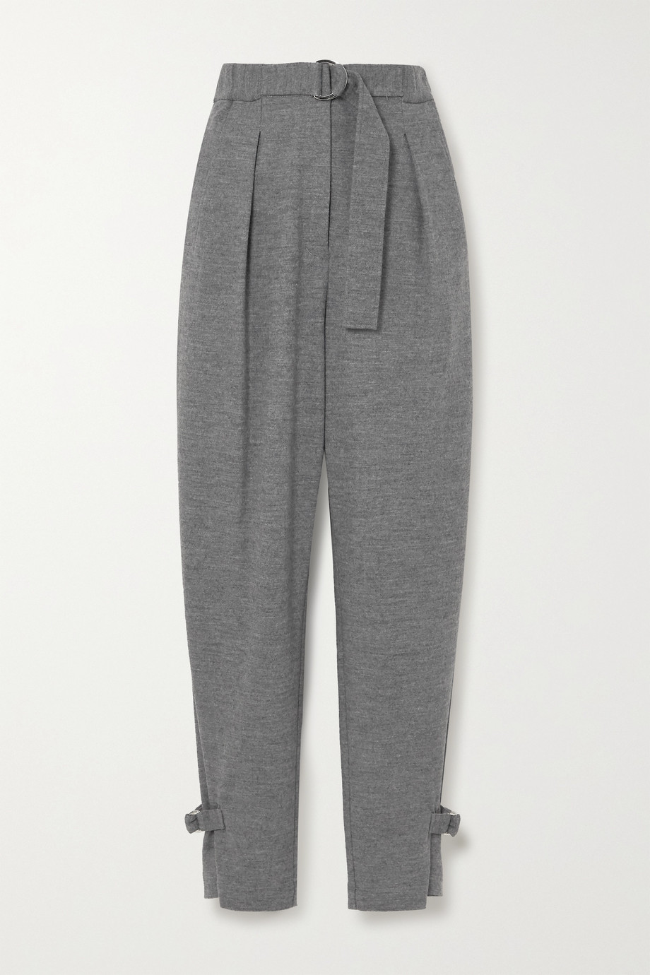3.1 PHILLIP LIM Belted pleated mélange wool tapered pants