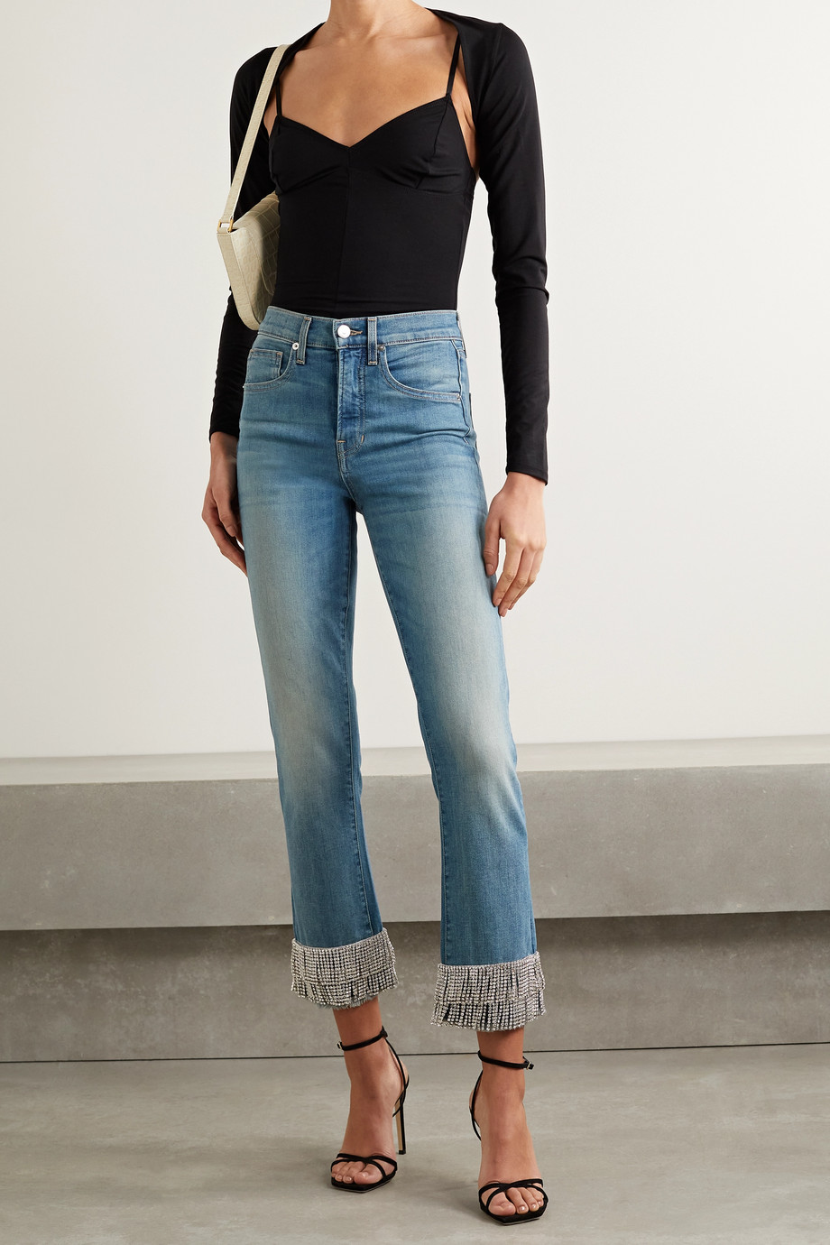 VERONICA BEARD Ryleigh crystal-embellished skinny jeans