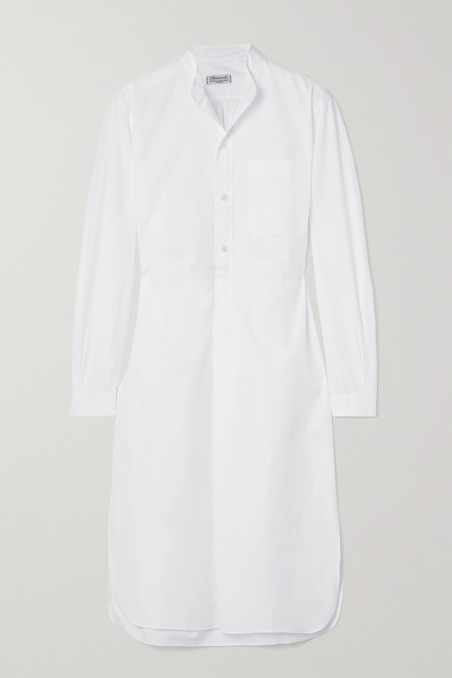 CHARVET Elysee oversized cotton-poplin nightdress