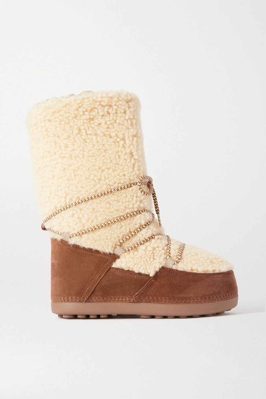 BOGNER Cervinia suede and shearling snow boots