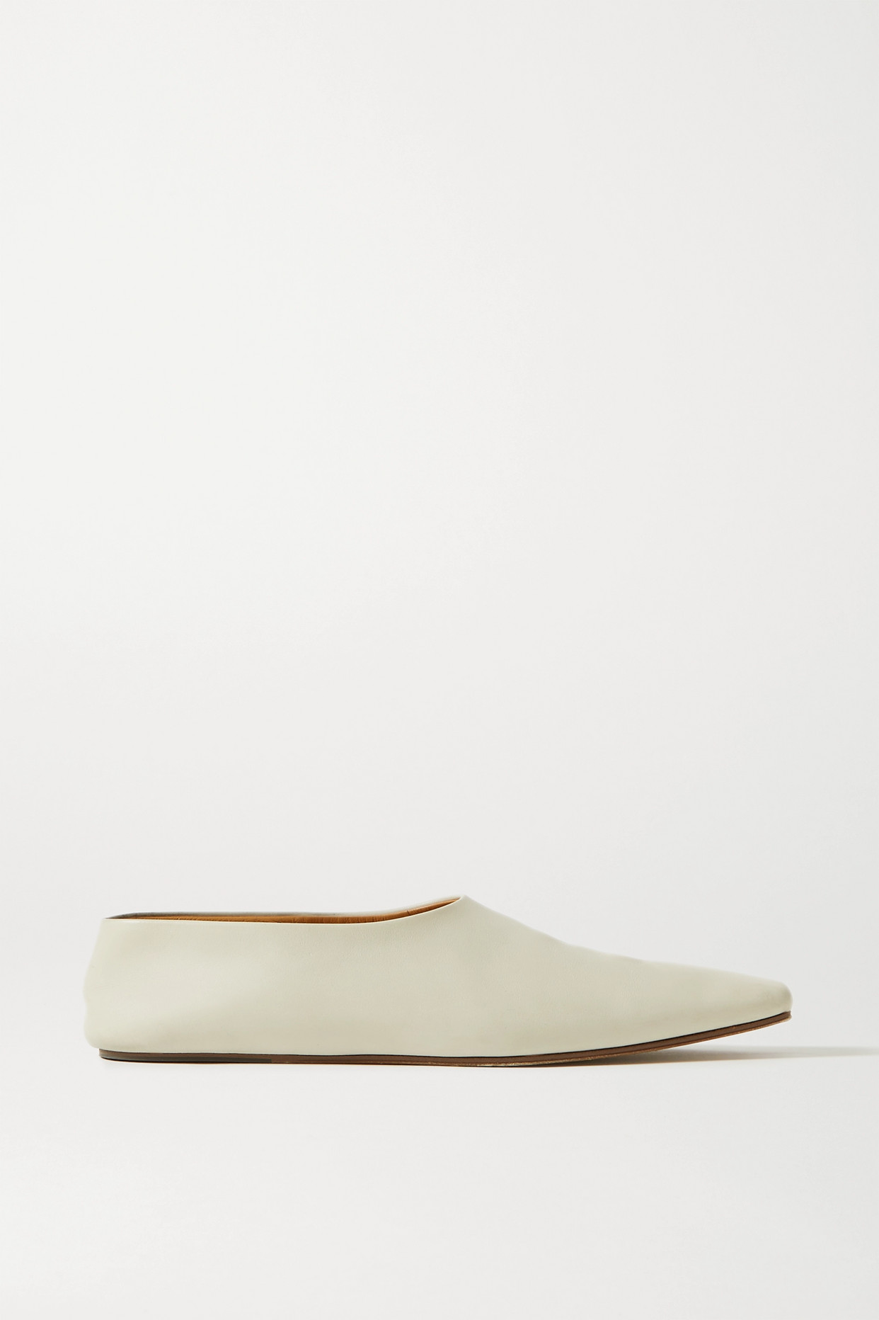 THE ROW - Leather Ballet Flats - Ivory - IT36
