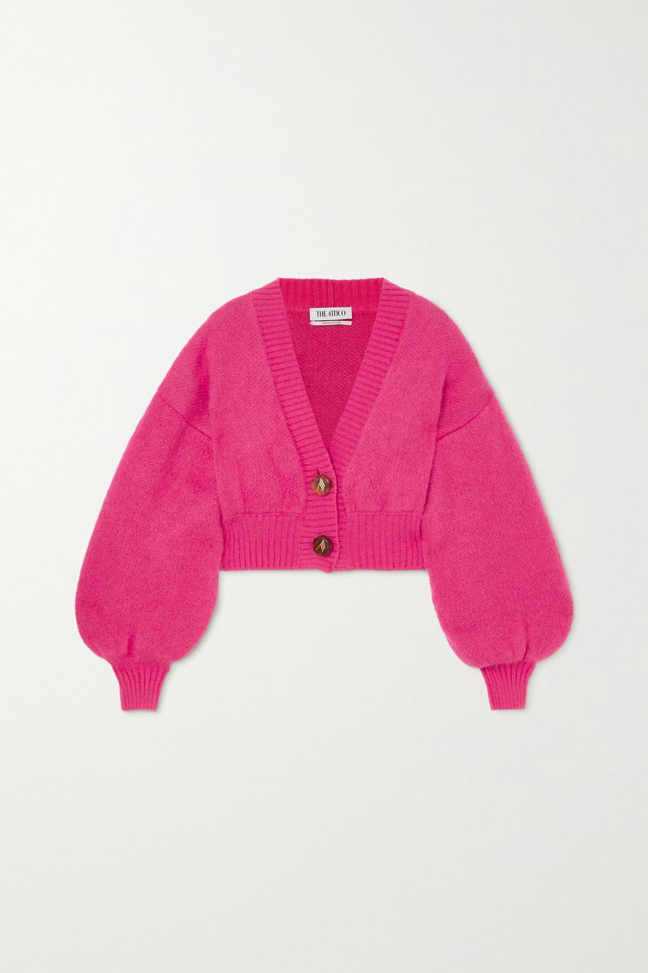 THE ATTICO Cropped mohair-blend cardigan