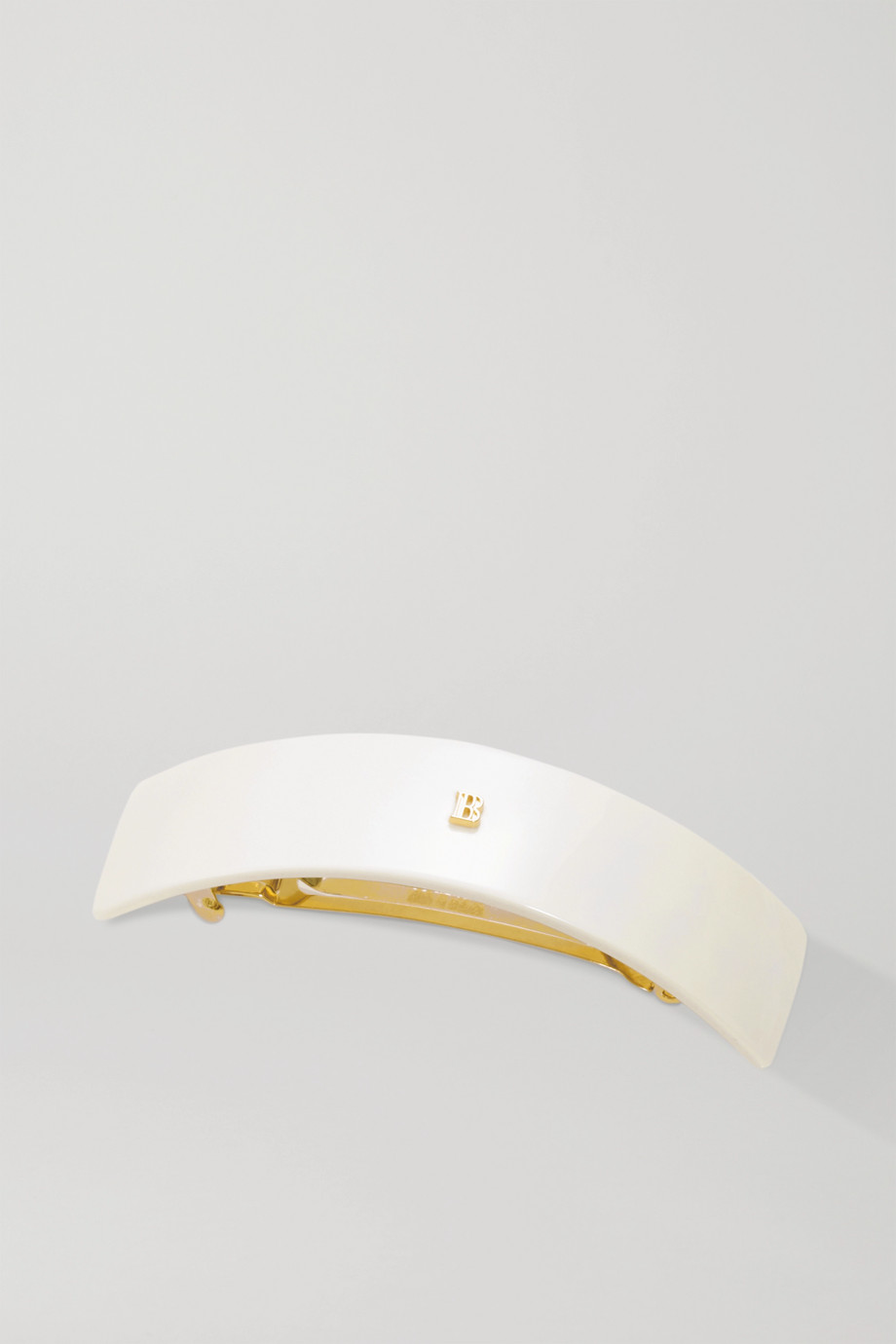 BALMAIN PARIS HAIR COUTURE Large acetate hair clip - White