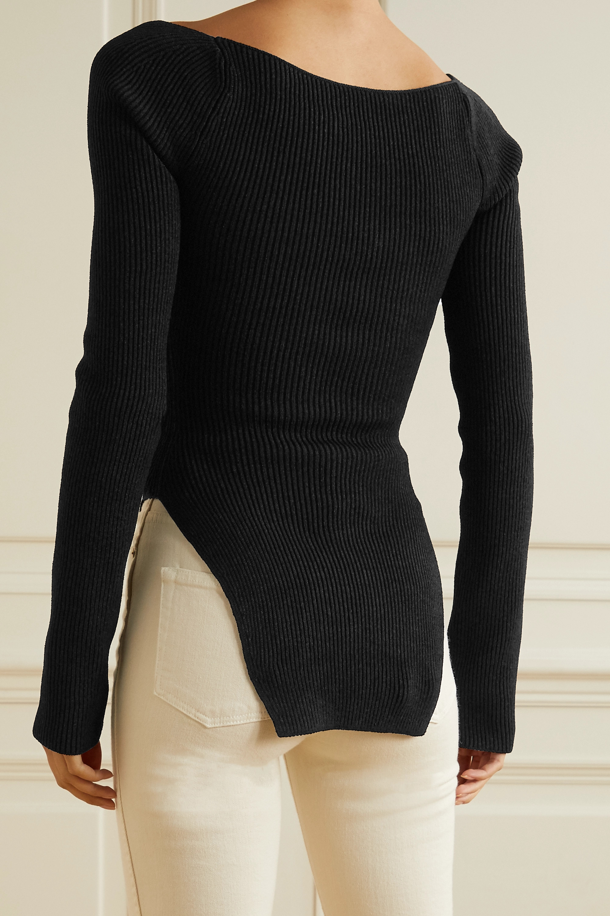 KHAITE Maddy ribbed-knit sweater