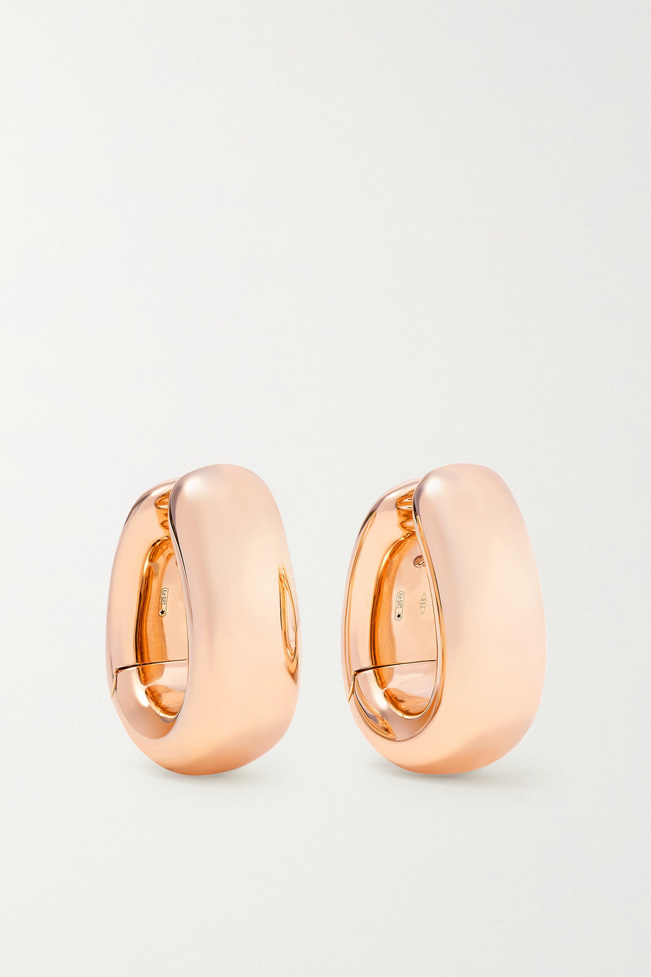 POMELLATO Iconica 18-karat rose gold hoop earrings