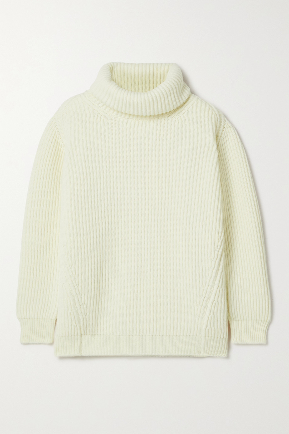 &DAUGHTER + NET SUSTAIN Inver ribbed merino wool-blend turtleneck sweater