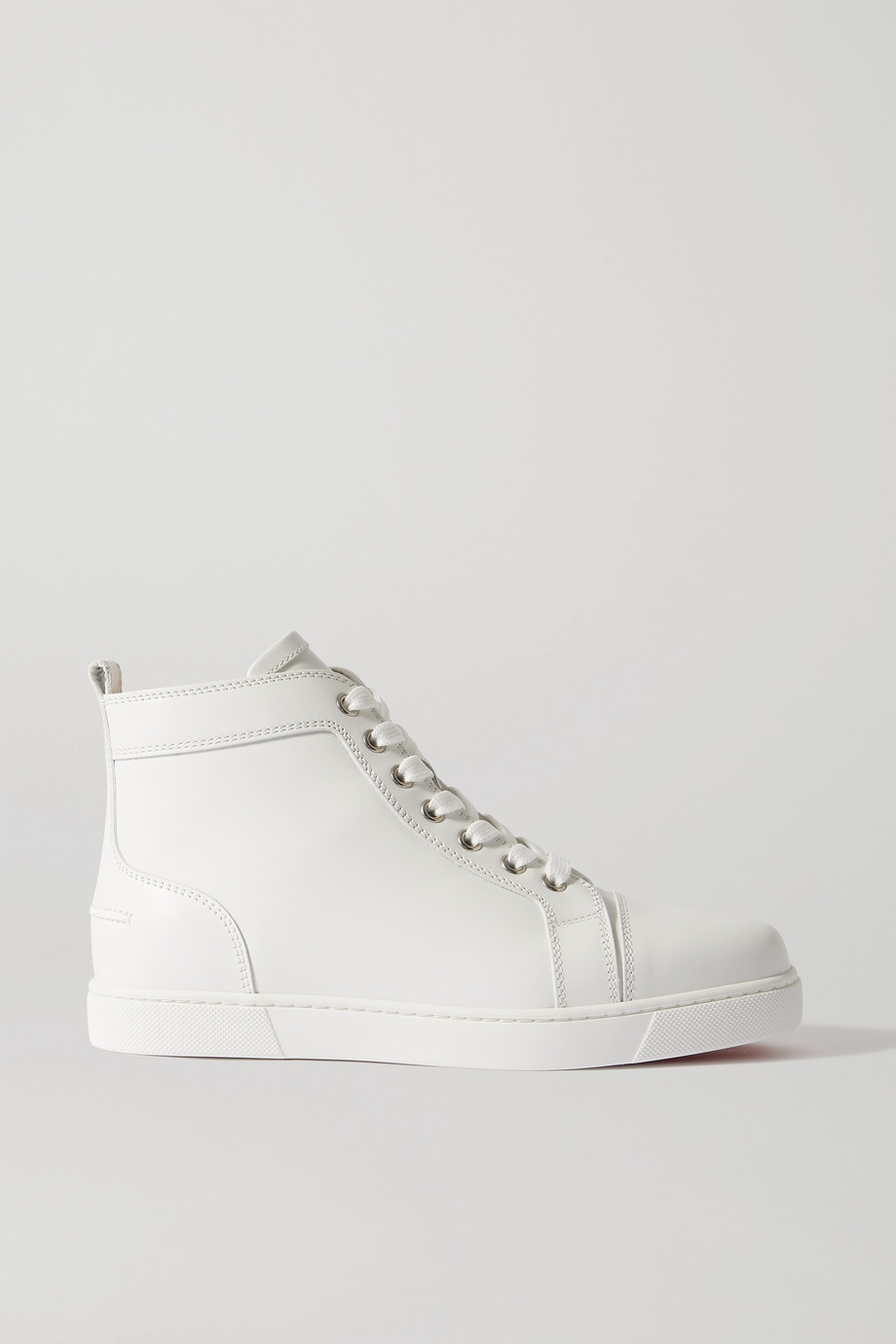 CHRISTIAN LOUBOUTIN Louis logo-embellished leather high-top sneakers