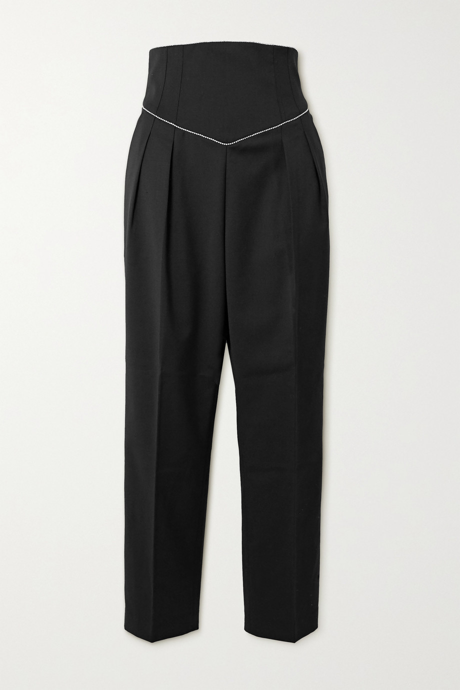 REBECCA VALLANCE Starwood crystal-embellished twill tapered pants