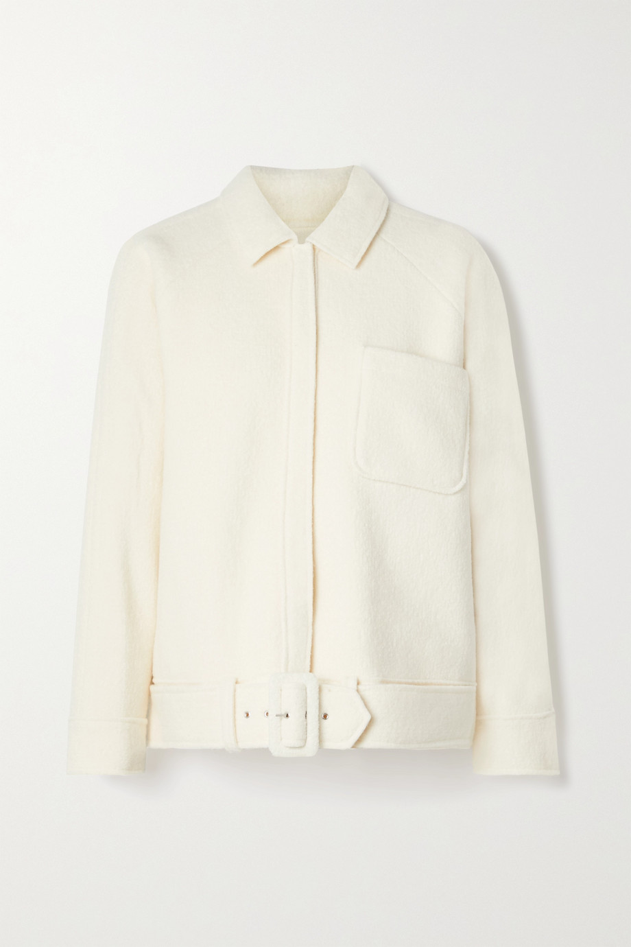 ANINE BING Jaden belted wool-blend jacket