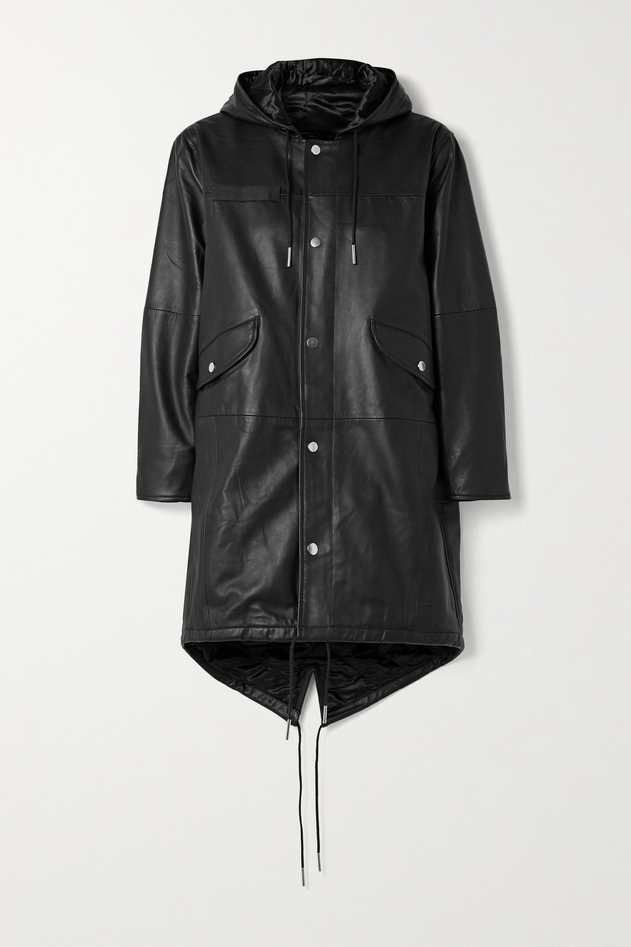 Deadwood Payne hooded leather parka
