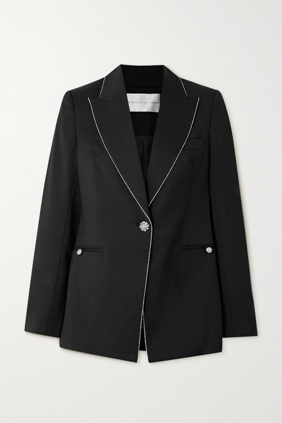 REBECCA VALLANCE Starwood crystal-embellished twill blazer