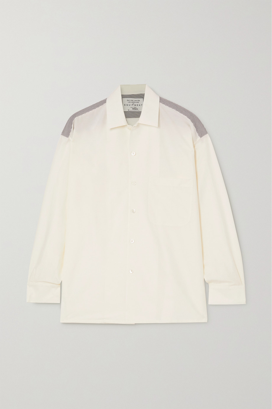 EQUIPMENT Archive 6 striped cotton-poplin and cotton and silk-blend shirt