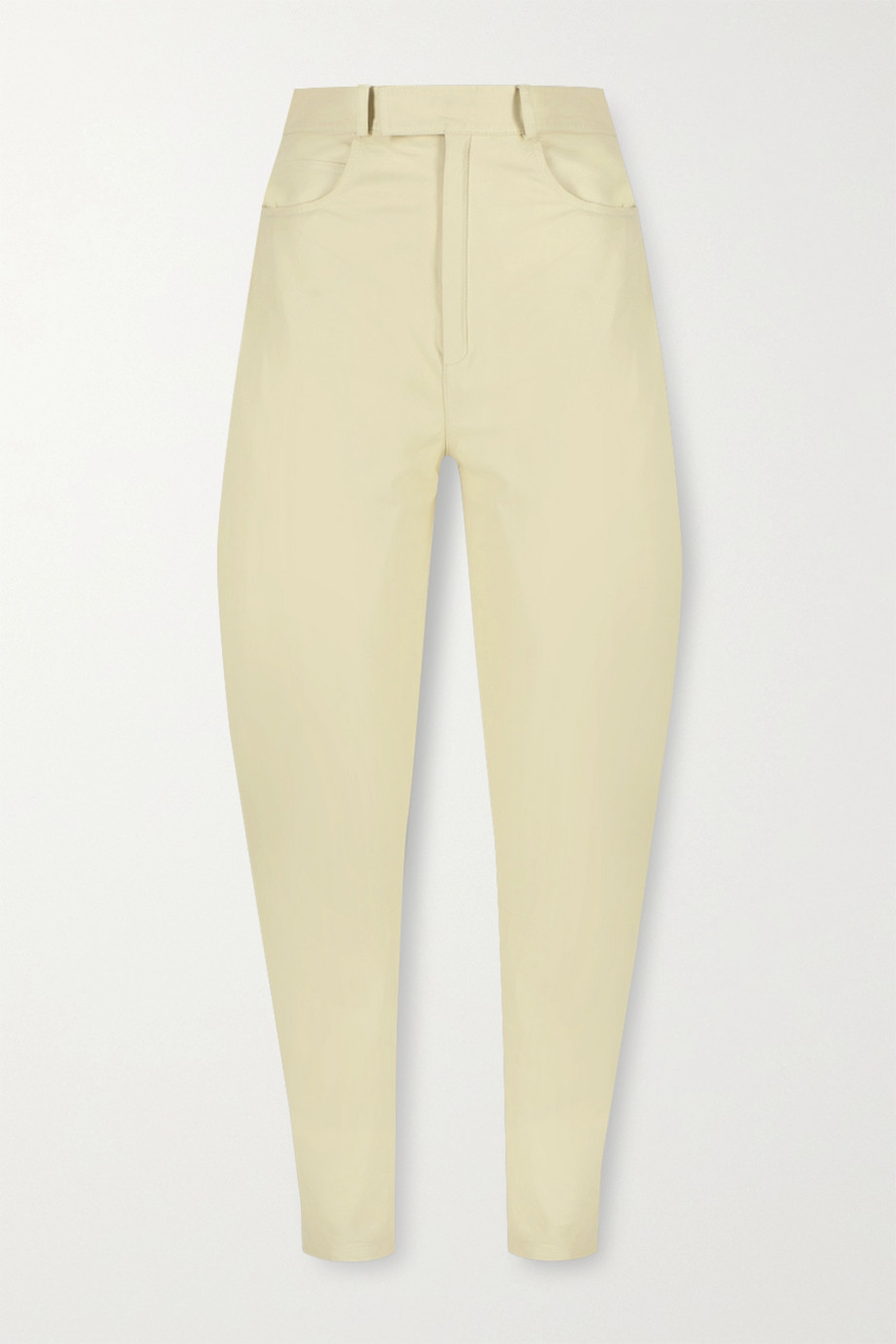 Zeynep Arcay Leather tapered pants