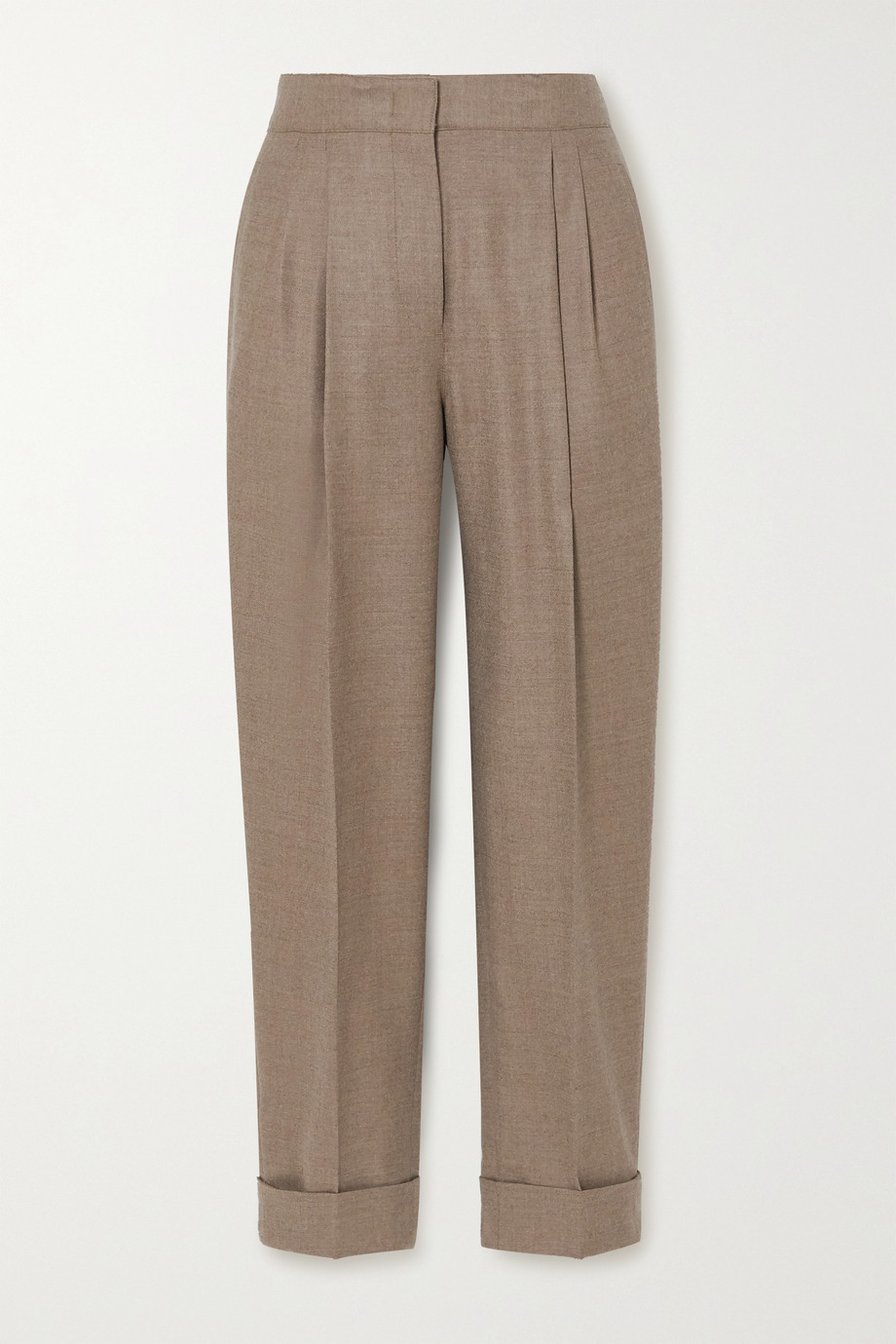 CASASOLA Leblon wool, silk and linen-blend straight-leg pants