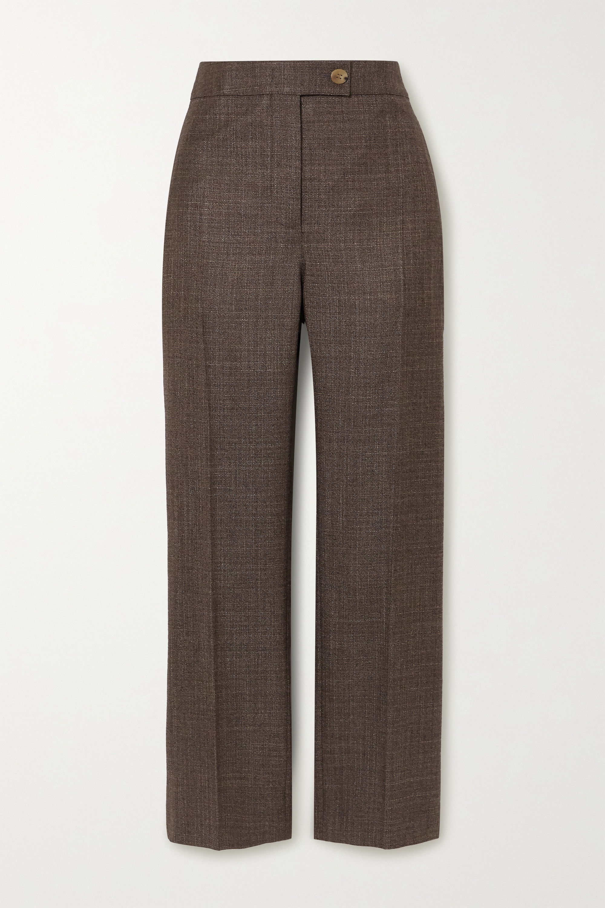 CASASOLA + NET SUSTAIN Treviso silk and cashmere-blend straight-leg pants
