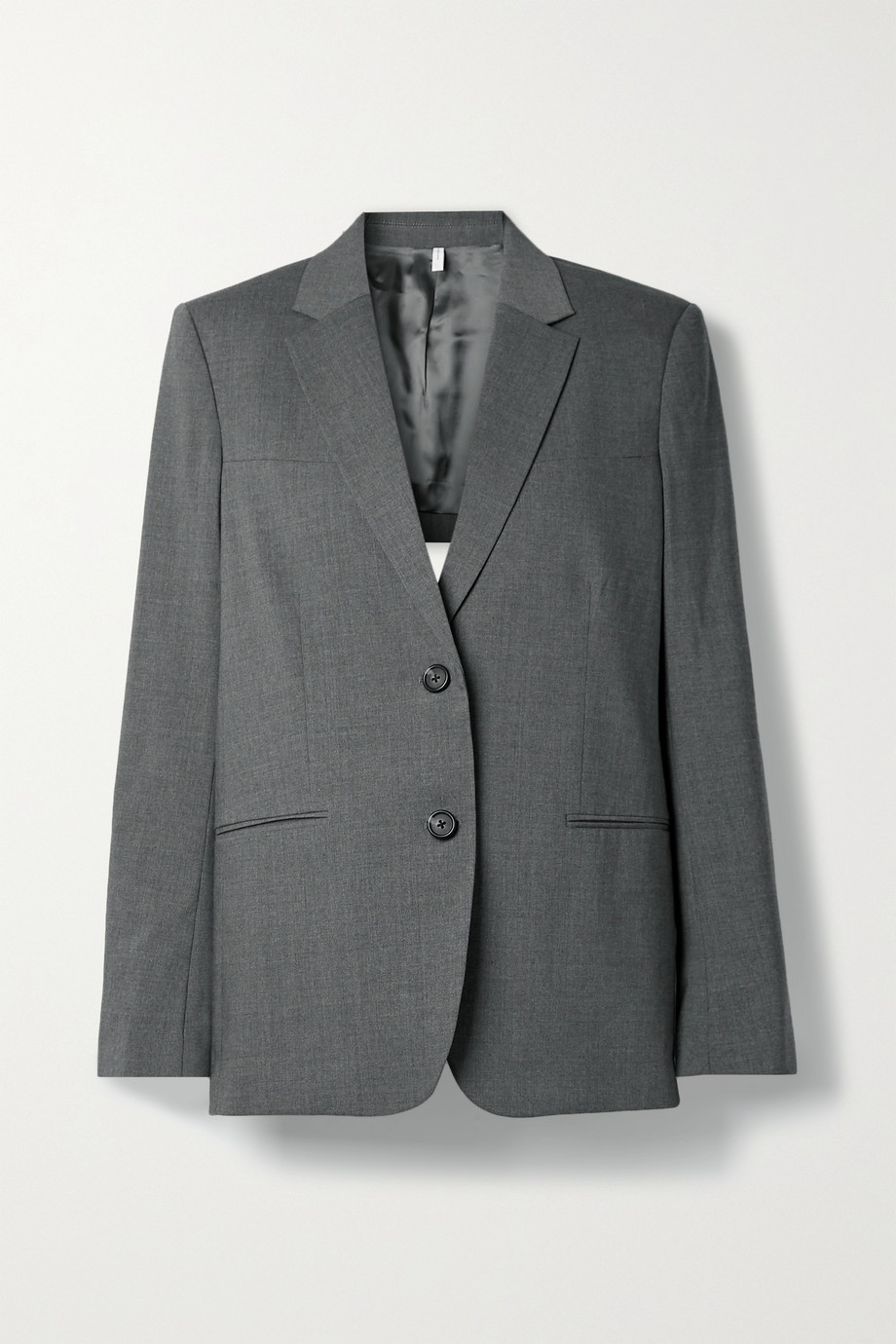 HELMUT LANG Open-back belted wool-blend blazer