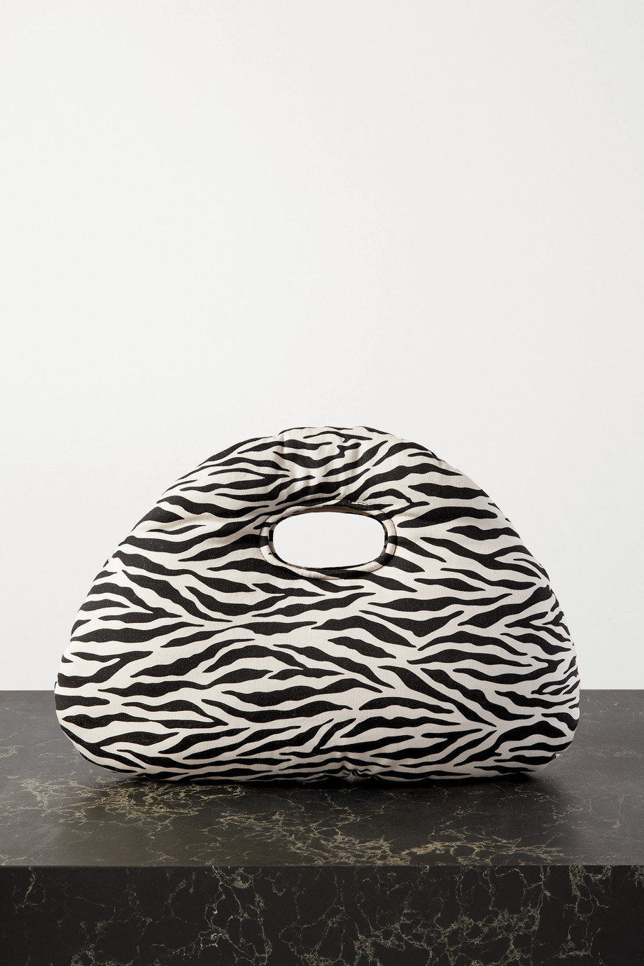 A.W.A.K.E. MODE Lucy padded zebra-print cotton-twill tote