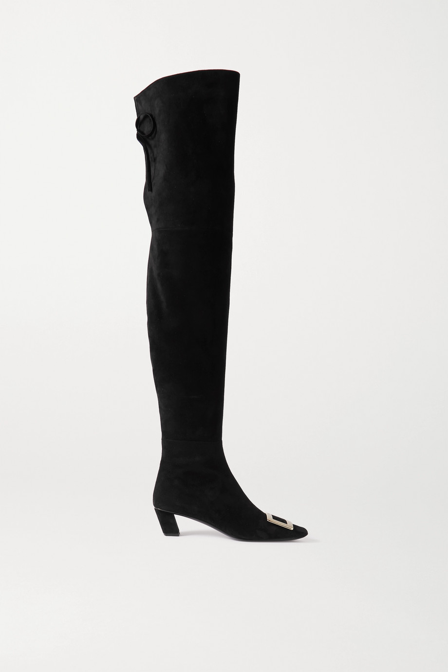 Roger Vivier Belle Vivier suede over-the-knee boots