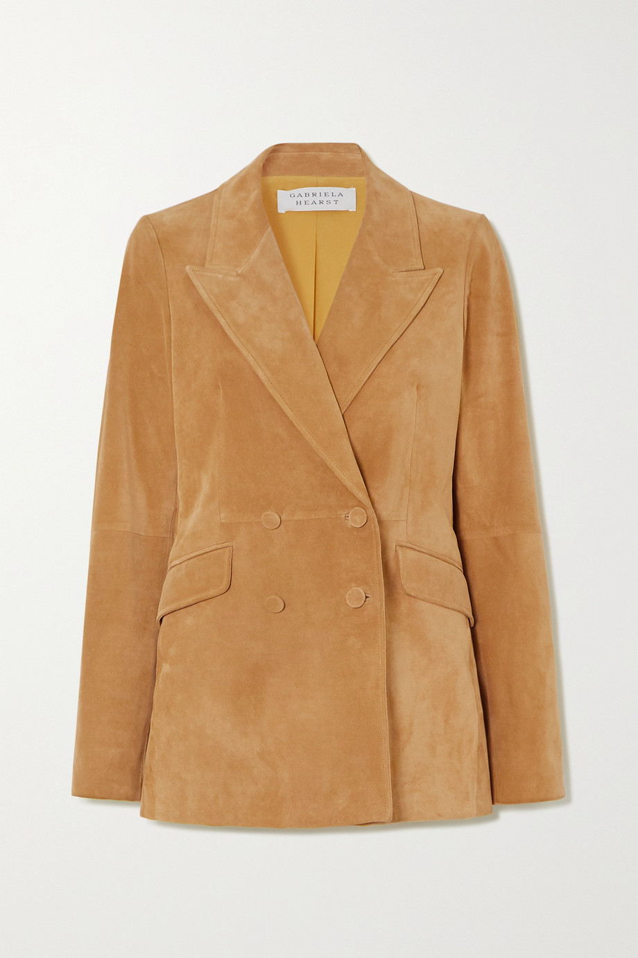 Gabriela Hearst Angela double-breasted suede blazer