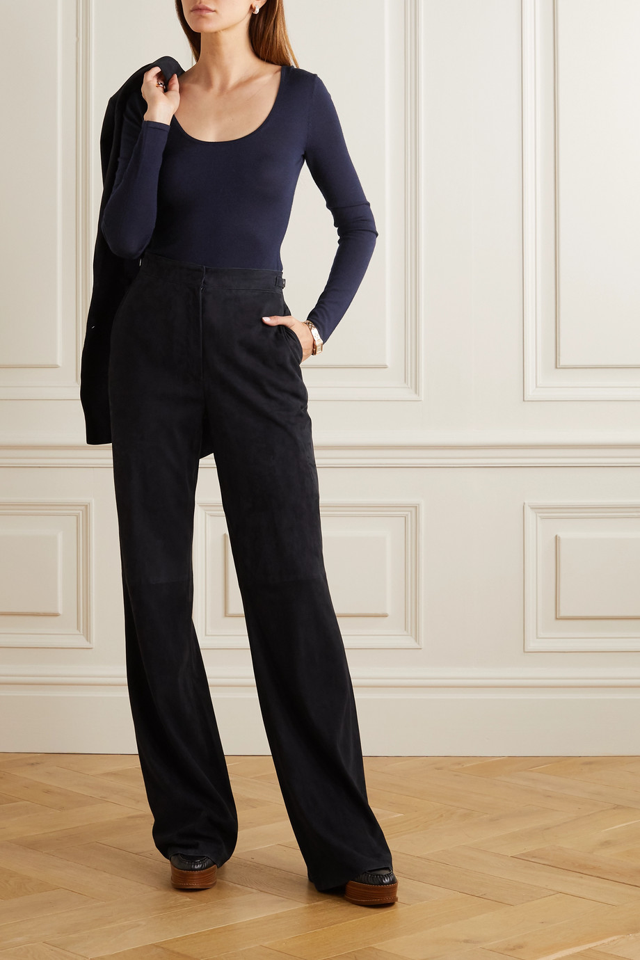 Gabriela Hearst Emily cashmere and silk-blend bodysuit