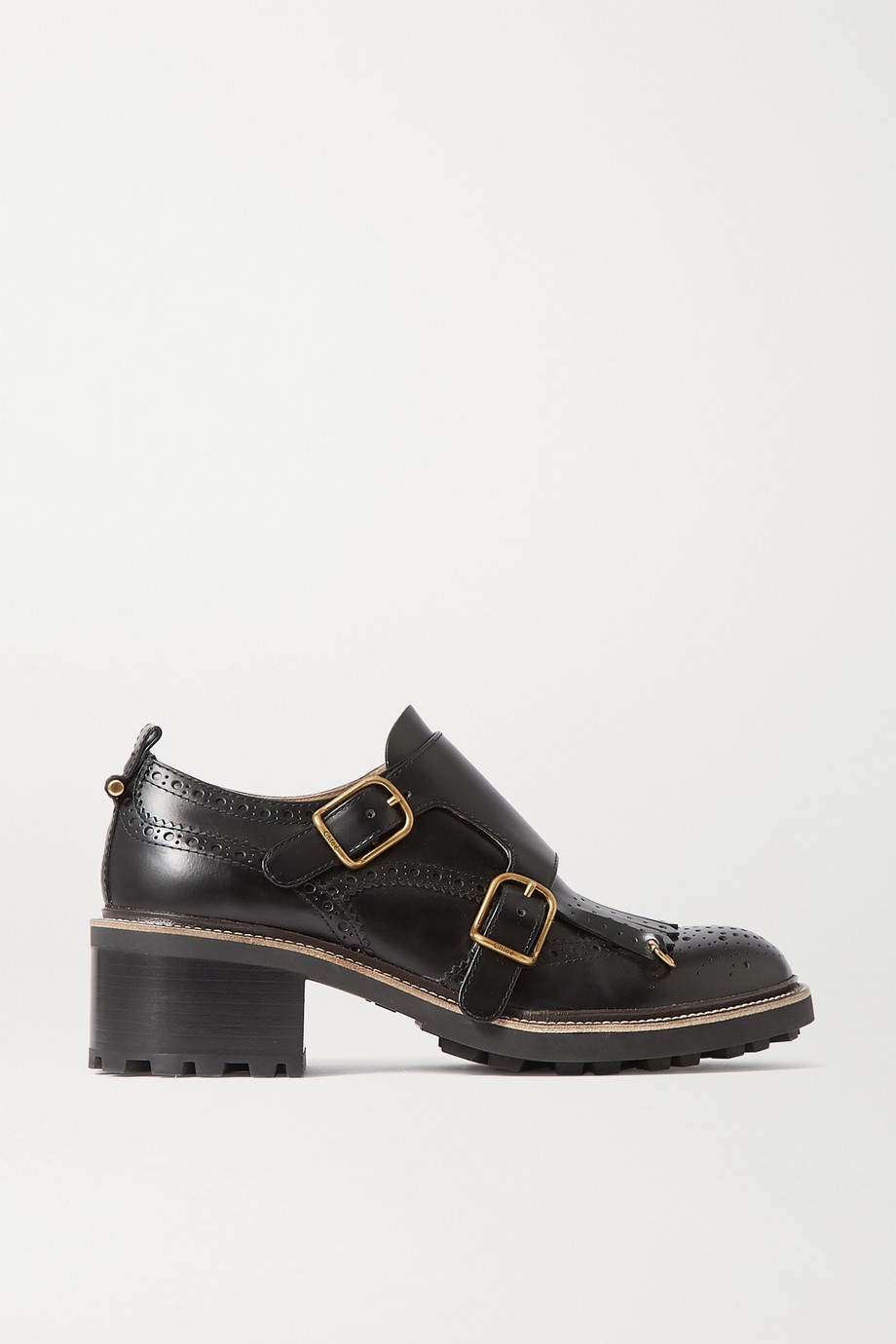 CHLOÉ Franne leather brogues