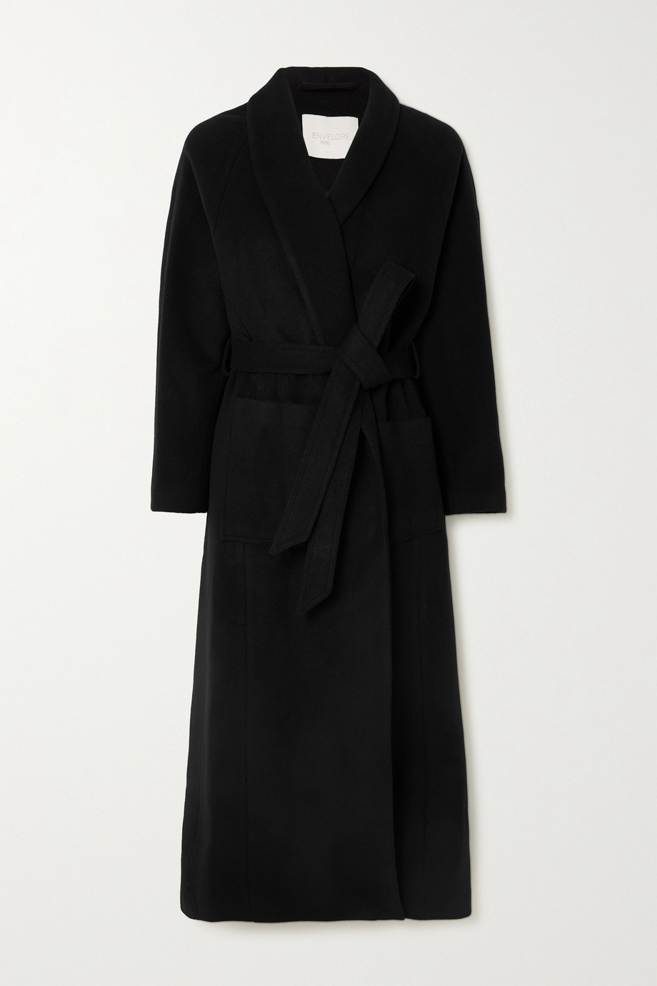 ENVELOPE1976 + NET SUSTAIN Houston belted wool coat