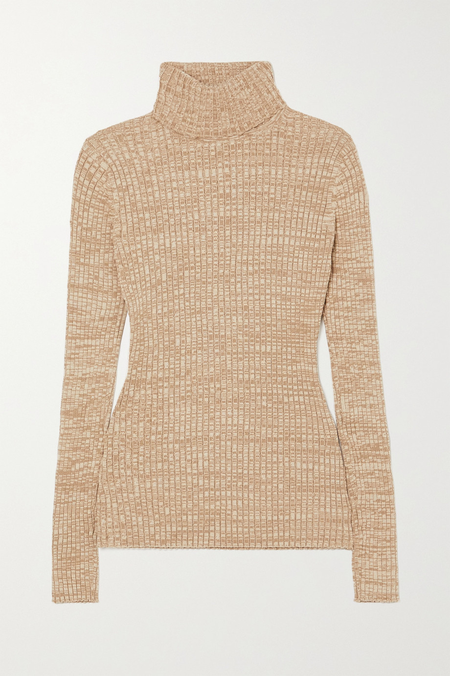ANNA QUAN Heather ribbed cotton turtleneck sweater
