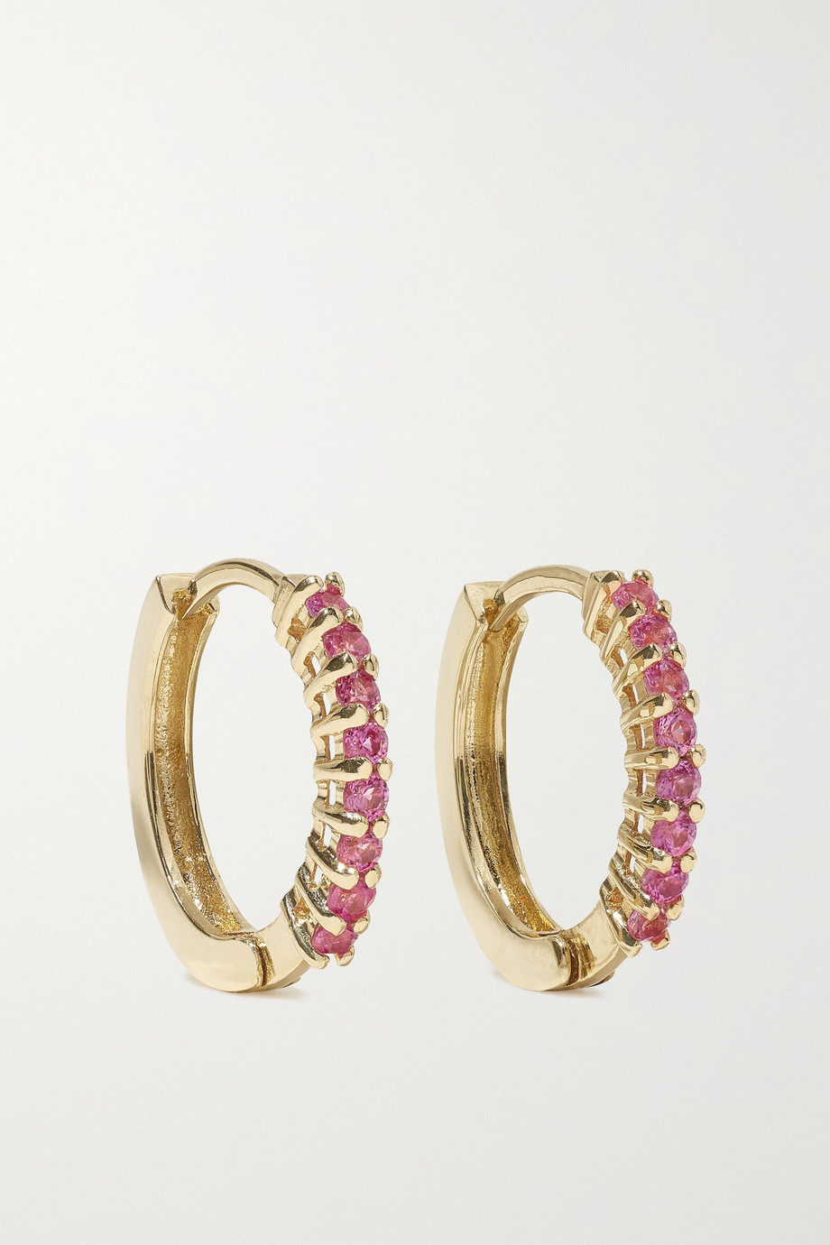 MATEO 14-karat gold sapphire hoop earrings