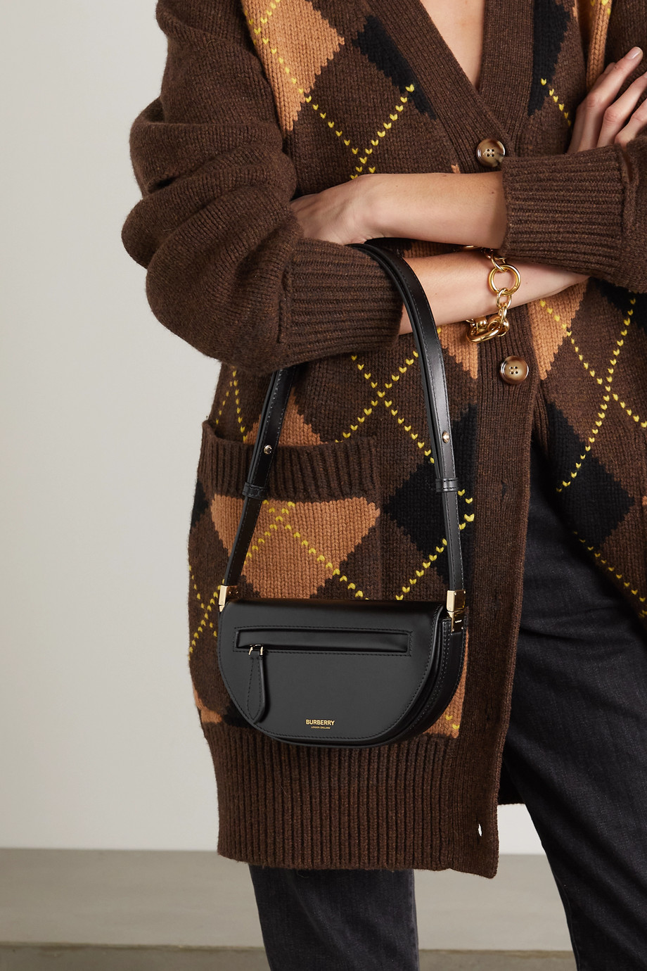 BURBERRY Mini leather shoulder bag